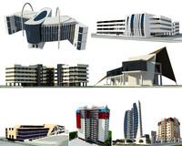 buildings set collection