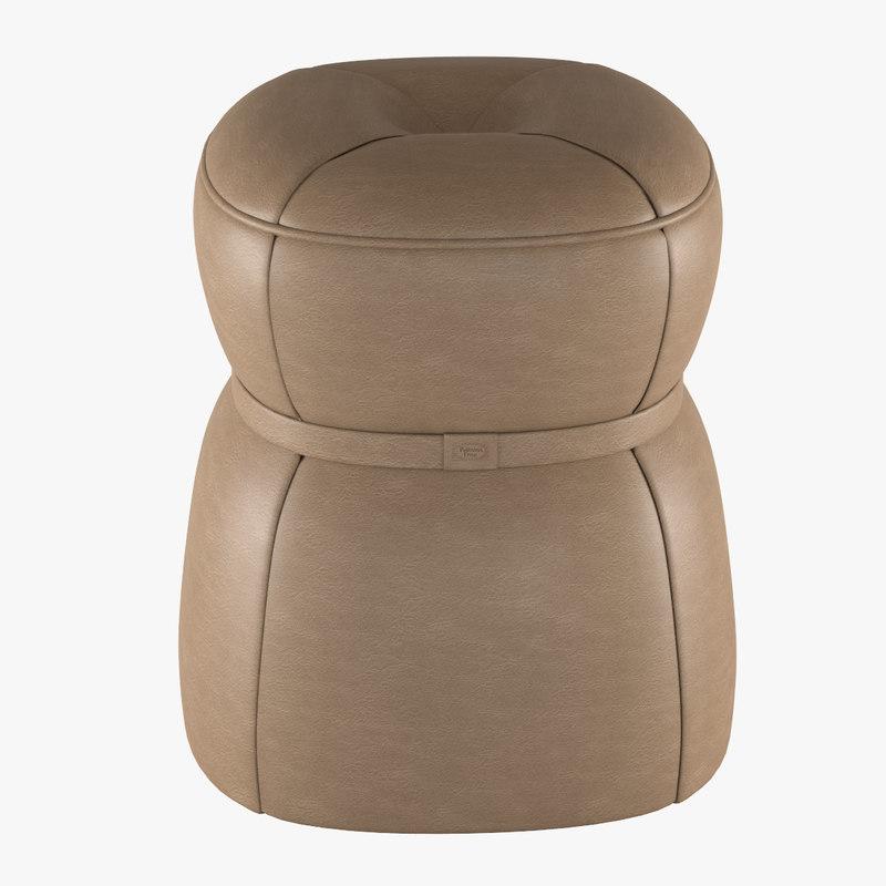 3d pouf lepli poltrona frau for Poltrona 3d