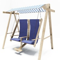 chair swing wood