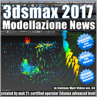 3ds max 2017 Modellazione News vol 64 MP4
