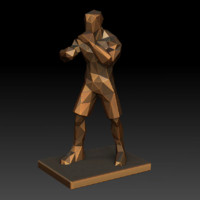 3d model boxing trophy