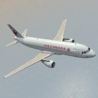 airbus air canada 3d model