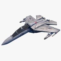 3d model war jet fighter