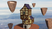 3d model medieval fantasy house