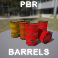 barrel red 3d model