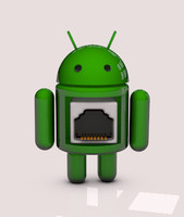 3d android droid robot