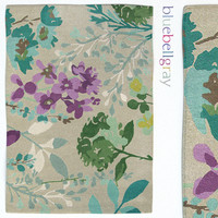 Bluebellgray Watercolor Braybrooke Linen Rug