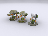 3d model toon grades turet