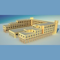 architecture building mall 3d model
