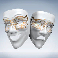 3d model theater mask