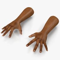 3d model hand man african