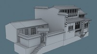 3d china house04 model