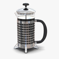 french press 3d model
