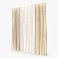 curtain modeled 3d model