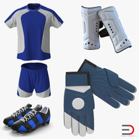 soccer gear 3d max