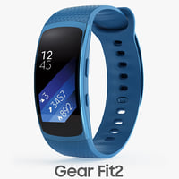 samsung gear fit2 3d model
