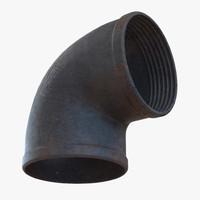 3d iron pipe elbow 2