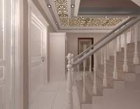 3d model hallway hall