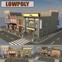 3d model of street scene
