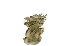dragon statue 3d obj