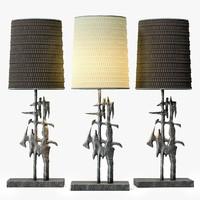 sculptural lamp 3d max