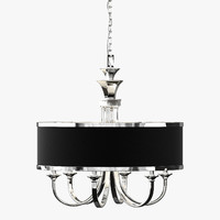 3d model uttermost tuxedo chandelier lamp