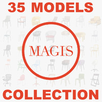 3d magis chairs model