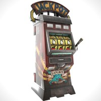 3d model slot machine animation