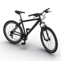 3d mountain bike generic black model