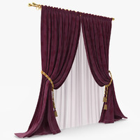 curtain blinds 3d model