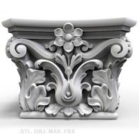 3d capitel stl