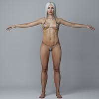 female character girl 3d model