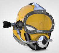 diving helmet 3d model