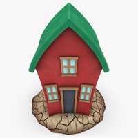 cartoon house shape 1 max