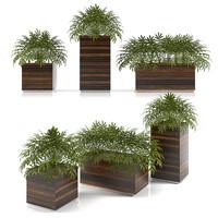 3d planter box plants model