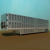 3d livestock semi trailer model