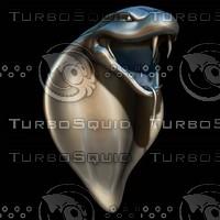 3d snake head sculpture model