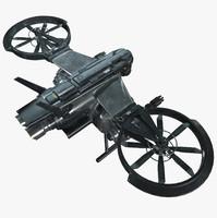sci-fi drone - 3d model