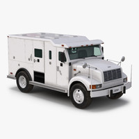 armored cash transport car 3d model