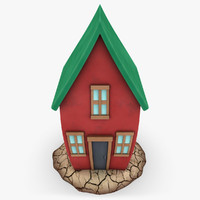 3d cartoon house shape 2 model