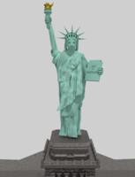 3d model liberty statue