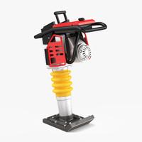 3d model tamping compactor