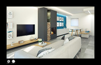scene modern living room interior 3d c4d