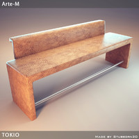 3d banquette tokio bench model