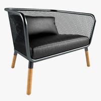3d model stefan armchairs honken