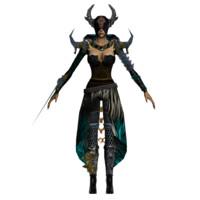 black shaman 3d 3ds