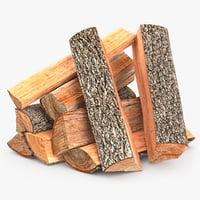 3d firewood stack 1 model