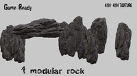 mountain rock obj