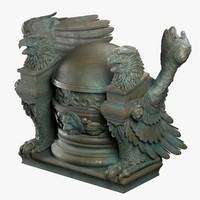 3d model statue base