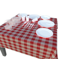 fbx plastic disposable tableware set